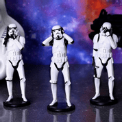 THREE WISE STORMTROOPERS - FIGURES, LAMPS, CUPS