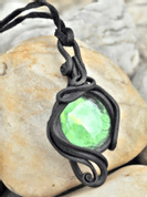 GREEN GLASS PENDANT - FANTASY JEWELS