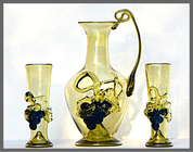 WINE SET, FORREST GLASS - HISTORICAL GLASS