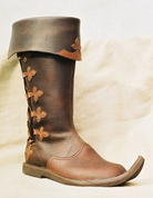 KNIGHT SHOES WITH DECORATIVE LACING - GOTHIC BOOTS