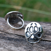 WOLF TRACK, RING, STERLING SILVER - RINGS - HISTORICAL JEWELRY