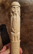 ROD, SLAVIC GOD OF FIRE, CARVED STATUE - WOODEN STATUES, PLAQUES, BOXES