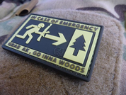 IN EMERGENCY, 3D VELCRO PATCH - MILITARY PATCHES