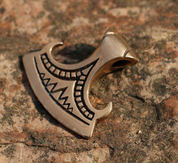 PERUN'S BEARDED AXE, BRONZE PENDANT - PENDANTS, NECKLACES