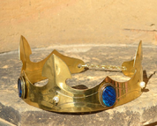 CAROLUS, NOBLE MEDIEVAL BRASS CROWN, SODALITE - TIARAS, CROWNS