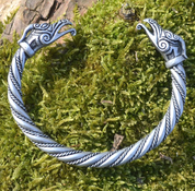 DRAIG CELTIC DRAGON SILVER PLATED TIN ALLOY BRACELET - CELTIC PENDANTS