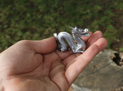 CHINESE DRAGON, TIN FIGURINE - PEWTER FIGURES