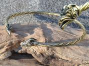 DRAIG, BRASS DRAGON TORQUES - FORGED JEWELRY, TORCS, BRACELETS