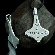 THOR'S HAMMER, NORWAY, SILVER - PENDANTS - HISTORICAL JEWELRY
