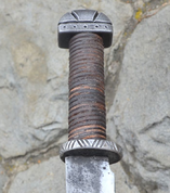 LONG ANGLO-SAXON SCRAMASAX, FORGED REPLICA - VIKING AND NORMAN SWORDS