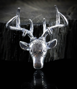DEER, NECKLACE, STERLING SILVER - MYSTICA SILVER COLLECTION - PENDANTS