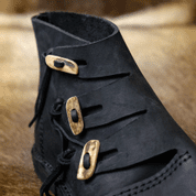 VIKING SHOES - HEDEBY, BLACK - VIKING, SLAVIC BOOTS