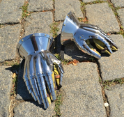 HOURGLASS GAUNTLETS, XIV CENTURY, POLISHED - ARMOR PARTS