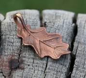 OAK LEAF, PENDANT, NECKLACE, BRONZE - BRONZE HISTORICAL JEWELS