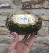 THEDA - BOWL, CZECH GLASS, HIGH ENAMEL - HISTORICAL GLASS