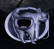 CAT, BEER OPENER - BELT BUCKLE - CUSTOM MADE BELTS