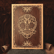 YGGDRASIL WALL DECORATION PLAQUETTE - WOODEN STATUES, PLAQUES, BOXES