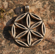 SUN FLOWER, BRONZE PENDANT - PENDANTS, NECKLACES