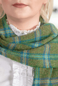 FOREST CHECK SCARF, FOXFORD, IRELAND - WOOLEN BLANKETS AND SCARVES, IRELAND