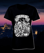 BOHEMIA, KING PREMYSL OTAKAR II. T-SHIRT, BLACK, LADIES' - PAGAN T-SHIRTS NAAV FASHION