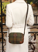 ARAN TWEED LEATHER SHOULDER BAG - WOOLEN HANDBAGS & BAGS
