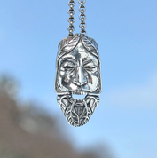 GREEN MAN, THE LORD OF THE NATURE AND REBIRTH, SILVER PENDANT AG 925 - MYSTICA SILVER COLLECTION - PENDANTS