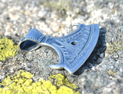 BEARDED AXE OF PERUN, SILVER SLAVIC PENDANT - PENDANTS - HISTORICAL JEWELRY