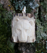 BEAR, CARVED ANTLER PENDANT - ANIMAL PENDANTS