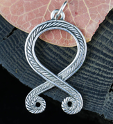 TROLL CROSS, ODAL RUNE, PENDANT, STERLING SILVER - PENDANTS - HISTORICAL JEWELRY