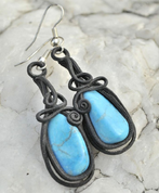 TYRKENITE EARRINGS - PIERRES ET FANTASY