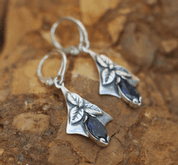 SHAMROCK, EARRINGS, SILVER, IJOLIT - EARRINGS WITH GEMSTONES, SILVER