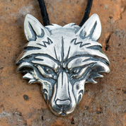 VUK, WOLF PENDANT, STERLING SILVER - MYSTICA SILVER COLLECTION - PENDANTS