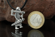 VIKING WARRIOR, KLAHAMMAR, REPLICA, SILVER PENDANT - PENDANTS - HISTORICAL JEWELRY