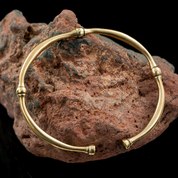CELTIC BRACELET, LA TENE CULTURE, BRONZE - BRONZE HISTORICAL JEWELS