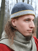 VIKING CAP WITH RIGID WOVEN HEDDLE BELT, BIRKA - HATS FOR MEN