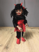 LITTLE DEVIL GIRL MARIONETTE - LOUTKY, MAŇÁSCI
