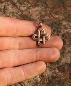 SIMPLE KNOT, BRONZE PENDANT - PENDANTS, NECKLACES