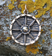 VIKING SHIELD, PENDANT, BRONZE - PENDANTS, NECKLACES