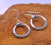 VIKING RINGS, STERLING SILVER EARRINGS - PENDANTS - HISTORICAL JEWELRY