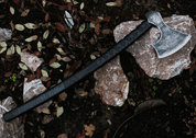 BOHEMIA - AXE, ETCHED WITH LEATHER - AXES, POLEWEAPONS
