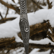 MUNINN ETCHED THROWING KNIFE - SET OF 3 - SHARP BLADES - THROWING KNIVES