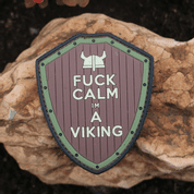 FUCK CALM VIKING NÁŠIVKA, SUCHÝ ZIP - MILITARY PATCHES