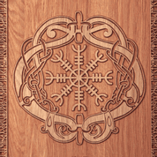 HELM OF AWE WALL DECORATION PLAQUETTE - WOODEN STATUES, PLAQUES, BOXES