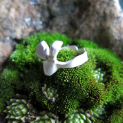 HARE, CUBIST RING, STERLING SILVER - RINGS - HISTORICAL JEWELRY