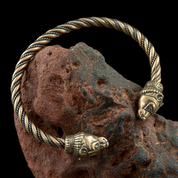 BERSERKER, BEAR, BRONZE BRACELET - VIKING, SLAVIC, CELTIC BRACELETS - BRONZE AND BRASS