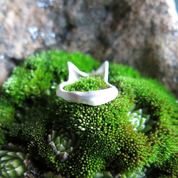 LITTLE FOX, CUBIST RING, STERLING SILVER - RINGE - HISTORISCHE SCHMUCK