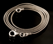 SNAKE, MASSIVE STERLING SILVER CHAIN - CORDS, BOXES, CHAINS