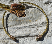 COLLACH, CELTIC BRASS TORQUES, TORC - FORGED JEWELRY, TORCS, BRACELETS