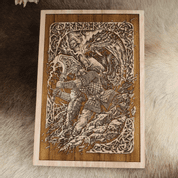 THOR WALL DECORATION, WOOD 30X40CM - WOODEN STATUES, PLAQUES, BOXES
