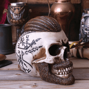 RAGNAR VIKING SKULL, DECORATION - FIGURES, LAMPS, CUPS